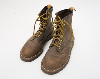 Dr. Martens 8-eye Leather Boots -- Size 5 Made In England