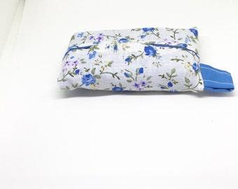 Small tissue holder, pocket tissue holder, travel tissue pouch, pocket tissue pouch, fabric tissue pouch, gift for her,Christmas gift