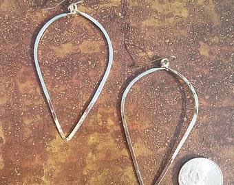 Simple Hoop Earrings, Silver Hoops,