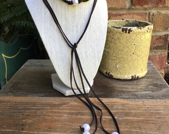 Pearl Leather Wrap