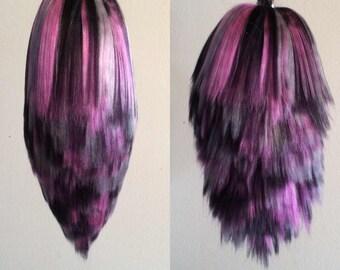 Black/Pink/Grey Rabbit / Bunny Yarn Tail