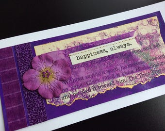 Handmade Art Card - Happiness,  Always