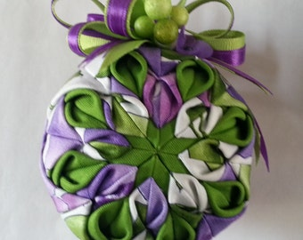 Spring Flowers 2-Quilted Ornament