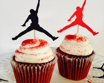 Jumpman Cupcake Toppers(12pcs)