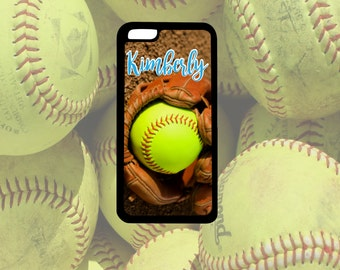 Softball Glove Phone Case, iPhone 4/4s, iPhone 5/5s, iPhone 5c, iPhone 6/6s, iPhone 6+/6s+, Samsung S4, S5, S6, Note 3, Note 4, Note 5