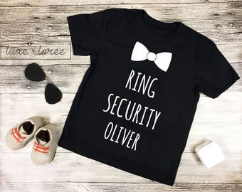 Ring Security, Ring Bearer, Baby boy's Clothing, Boys Tshirt, Ring bearer shirt, Wedding, ring bearer Gift, Wedding, Ring, Wedding gift