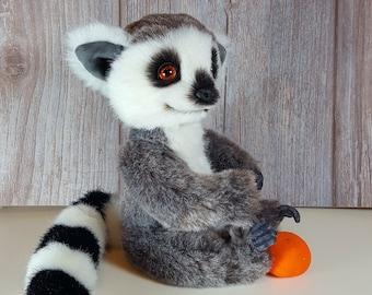 Soft toy handmade Teddy Lemur Rico