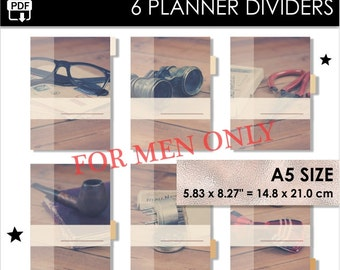 Man A5 Size Planner Dividers Filofax A5 Websters Pages A5 Kikki K Large 6 Tabs Inserts Men Character Man Planner Download Pdf PRINTABLE