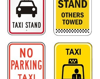 scale model Taxi Stand Signs