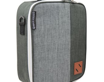MADE RUGGED Insulated Lunch Bag For Men & Diet Management, Freezer Safe and Collapsible Cooler Lunch Box For Work and School