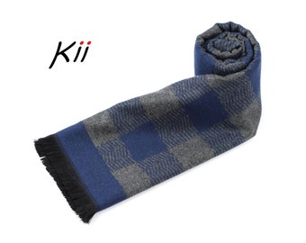 Premium Mens Scarf * Square Pattern Mans Scarf * Winter Scarf * Husband Gift * Gift for Him * Man Scarf * Man Gift