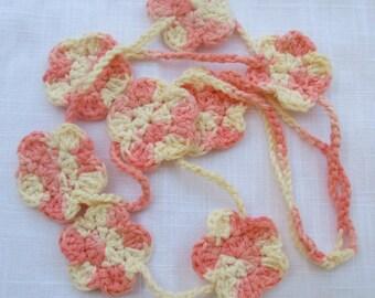 Happy, Happy Crochet Necklace