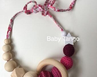Breastfeeding necklace **nursing Necklace** wooden teether necklace