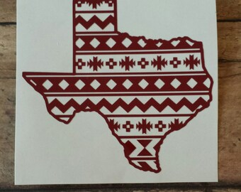 Texas Aztec Decal. Yeti Decal, Car Decal, Laptop Decal.
