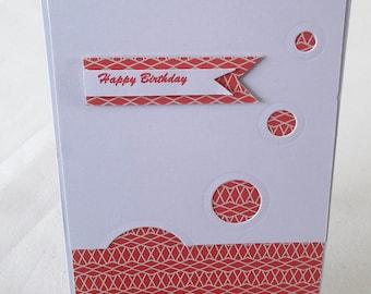"""Flight of circles"" birthday card"