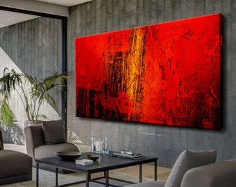Abstract paintings, Contemporary Art, Abstract Painting, Original Artwork, Red canvas, Acrylic on canvas, Acrylic painting, Abstract art