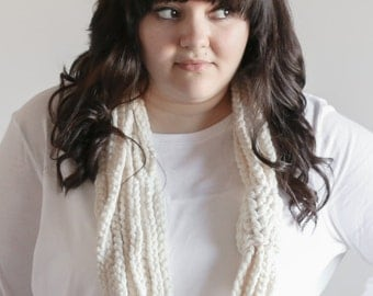 Chunky Cowl Infinity Scarf Warmer Necklace | THE SPINNEY in Fisherman