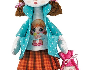 Birthday Girl Sewing Kit Textile carcass doll  Interior Doll  Nova Sloboda