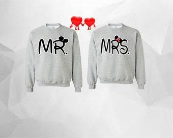 Mr Mickey Mrs Minnie Couple Sweatshirts Mickey Minnie Mouse Sweatshirts