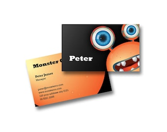 BUSINESS CARD DESIGN - Customized with Your Details! - Pre-Made Design  - Monster - BCD11