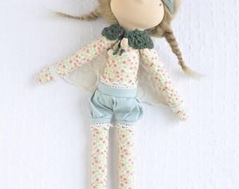 Fairy Doll- Waldorf doll- cloth doll- rag doll- handmade doll- heirloom doll- fabric doll- natural doll- natural materials