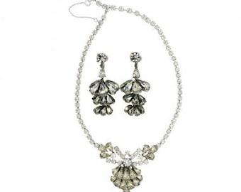 Mitchel Maer 1950s Silver Tone Vintage Jewellery Set