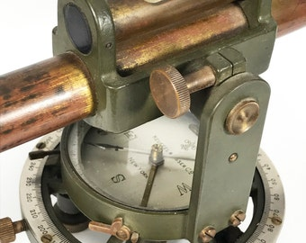 Antique Keuffel & Esser Co Transit Level Model 5694 - Farm Level with Tilting Telescope and with Compass