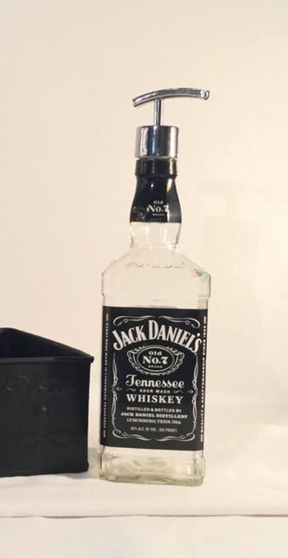 Jack Daniels soap dispenser. Liquor bottle Tennessee Whiskey Old No 7. mouthwash dispenser, stainless steel soap lotion pump, Christmas gift