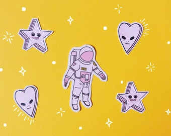 Space Oddity Stickers (Major Tom, Alien Sweetheart, Star)