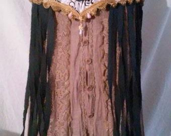 Denim Upcycled Gypsy Jean Skirt