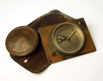 Very rare vintage compass 1930s - Military compass - Antique Mechanical compass - Soviet travel accessories - Soviet Compass-unique compass