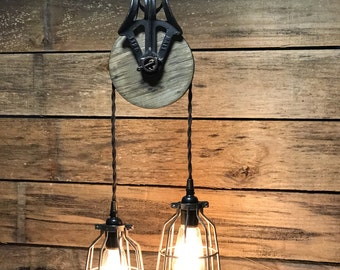 Barn Pulley Pendant