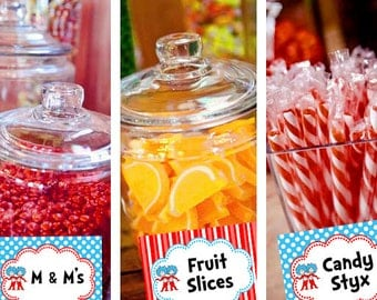 Dr Seuss Twin 1 & 2 Candy Table Buffet Label Baby Shower Party Printable -  Party Designs Co