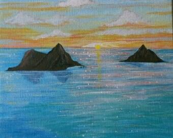 Items similar to Dark Sunrise oil painting on Etsy
