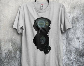 Mind and Heart T-shirt / Sherlock & Watson Tee / Detectives / Silhouettes / Free Shipping worldwide