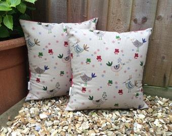 Singing birds cushion