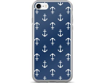 Anchor iPhone Case, Phone Case Anchor, Anchor Phone Case, Protective iPhone Case, iPhone 7 Case, iPhone 6 Case, iPhone 5, Nautical Gifts