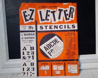 Vintage E-Z Letter stencils