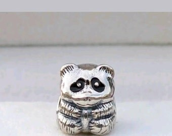 Pandora  Panda Bear Charm/New/Fully Stamped/Ale/925/Solid Sterling Silver/Threaded Core