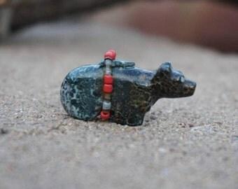 Zuni Bear Fetish by Lorae Lonasse
