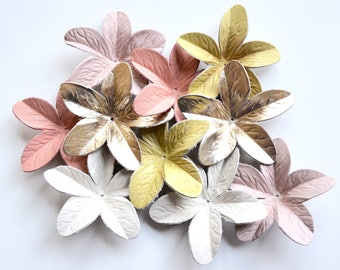 Lily leather flower set of 10 pcs