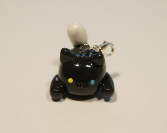 Pepper Cat Charm Keyring - Neko Atsume