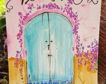 Be still colorful door of peace