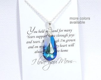 Blue Wedding Necklace, Mother of the Bride Gift Necklace, Gift for Mom, Necklace for Mom, Gifts for Moms, Mother in Law Gift