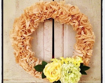 Natural Coffee filter wreath