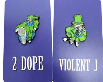 "ICP Enamel Pin Set - ""Purple Pimps""  Glow in the Dark Pins!"