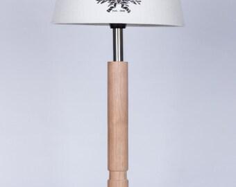 Handmade wooden table lamp