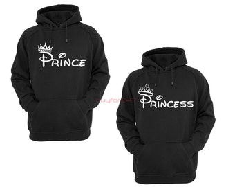 Prince Princess Hoodies King Hoodies Queen Hoodies Couple Hoodies Couple Sweatshirts Couple Sweater Couple Hooded Gift For Couple