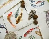 Acuarelas marinas originales / Delicious Sea watercolors 23x16cm / papel artesanal / 35 euros cadauno /each /watercolor Art