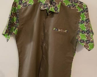 Ankara short sleeves shirt for men